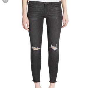 Joe's Jeans Skinny Ankle Gray Eden Finn Distressed